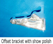 Offset bracket with show polish